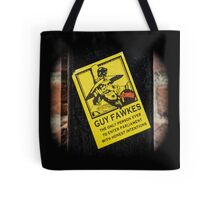Guy Fawkes Sign Spotted in York Tote Bag