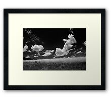 Bouncing Clouds Framed Print