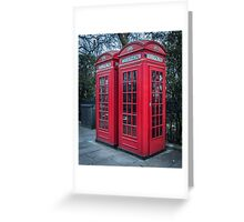 Classic London Telephone Booths Greeting Card