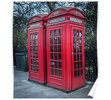 Classic London Telephone Booths Poster