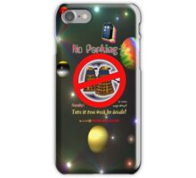 Doctor Who No Parking Sign Mk.2 iPhone Case/Skin