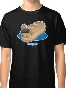 Bunjour -  Cute French Bread Bunny Pun Classic T-Shirt