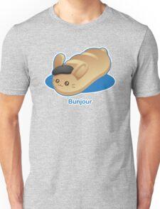 Bunjour -  Cute French Bread Bunny Pun Unisex T-Shirt