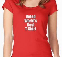 Ironic Tee - Voted World's Best T-Shirt Women's Fitted Scoop T-Shirt