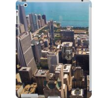 Aerial view of Chicago IL as seen from the Willis tower  iPad Case/Skin