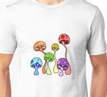 Colorful Shrooms Unisex T-Shirt