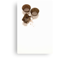 baking concept on white background Canvas Print