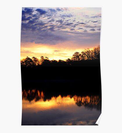 Morning Light Over The Lake Poster