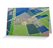 Aerial view of Sharon District, Israel Greeting Card