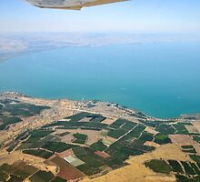 Aerial view of the Sea Of Galilee, Israel  by PhotoStock-Isra