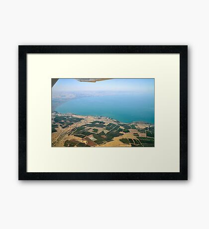 Aerial view of the Sea Of Galilee, Israel  Framed Print