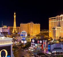 Stitched Panorama of the Strip, Las Vegas, Nevada USA by PhotoStock-Isra