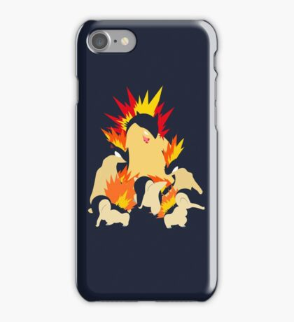 Cyndaquil - Quilava - Typhlosion iPhone Case/Skin