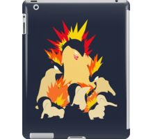 Cyndaquil - Quilava - Typhlosion iPad Case/Skin