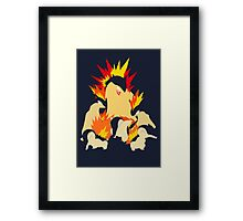 Cyndaquil - Quilava - Typhlosion Framed Print