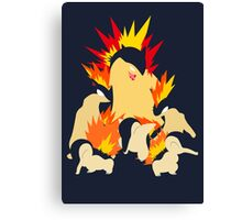 Cyndaquil - Quilava - Typhlosion Canvas Print