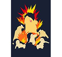 Cyndaquil - Quilava - Typhlosion Photographic Print