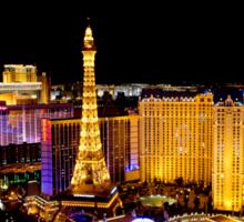 The Strip, at night Las Vegas, Nevada, USA Sticker