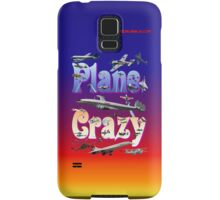 Plane Crazy T-shirt - for those obsessed with aircraft Samsung Galaxy Case/Skin