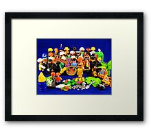 Pepper Playmobil Style Framed Print