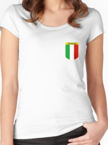 ITALIA EMBLEM Women's Fitted Scoop T-Shirt