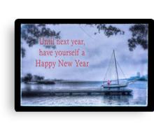 Until Next Year, Happy New Year Canvas Print