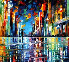 Reflections Of The Blue Rain — Buy Now Link - www.etsy.com/listing/209936557 by Leonid  Afremov