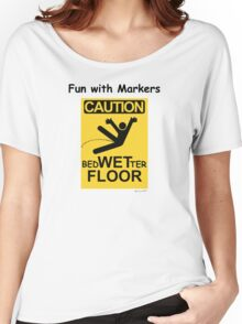 Caution Wet Floor - Spoof / Vandalism Women's Relaxed Fit T-Shirt