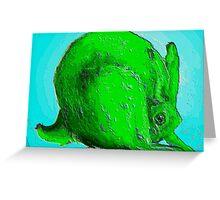 eco bunny Greeting Card