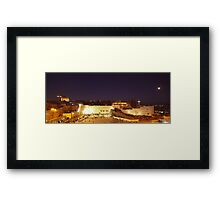 Panoramic night view of the Wailing Wall, Jerusalem.  Framed Print