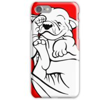 English Bull Terrier Tired Puppy  iPhone Case/Skin