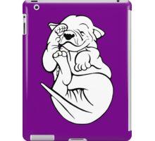 English Bull Terrier Tired Puppy  iPad Case/Skin