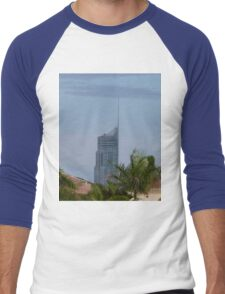 Q1 Building in the Afternoon Sun Men's Baseball ¾ T-Shirt