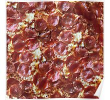 Pepperoni Pizza Print Poster