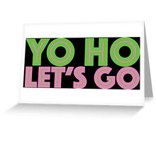 Jake Neverland Pirates Yo Ho Let's Go Greeting Card