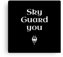 Sky Guard You Canvas Print