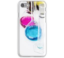 Chemical flasks in Industrial Chemistry Laboratory iPhone Case/Skin