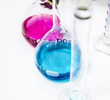 Chemical flasks in Industrial Chemistry Laboratory by PhotoStock-Isra