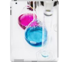 Chemical flasks in Industrial Chemistry Laboratory iPad Case/Skin