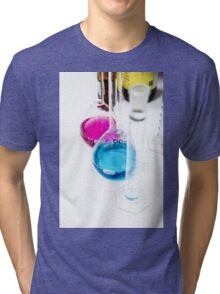 Chemical flasks in Industrial Chemistry Laboratory Tri-blend T-Shirt