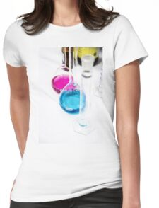 Chemical flasks in Industrial Chemistry Laboratory Womens Fitted T-Shirt