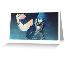 Dramatical Murder: Jerry Blaine Sly Blue Greeting Card