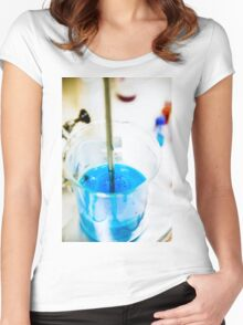 Chemical flasks in Industrial Chemistry Laboratory Women's Fitted Scoop T-Shirt