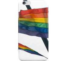 Gay Flag on white background iPhone Case/Skin