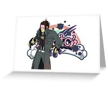Dramatical Murder: Mink and Scratch Greeting Card