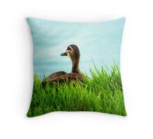 Duck in the Grass - Stephenson Park, Mount Barker, South Australia Throw Pillow