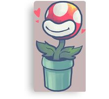Cute Potted Piranha Plant Canvas Print