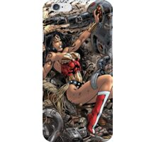 Wonder Woman vs Robot by Al Rio iPhone Case/Skin