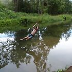 Rope Swing over the Creek. by FangFeatures