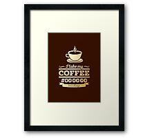 I take my coffee Black - gold Framed Print